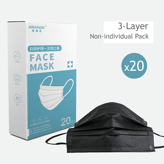 surgical-mask-blackx20